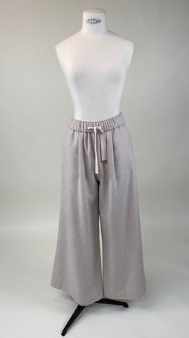 Cashmere Look Trousers Cream
