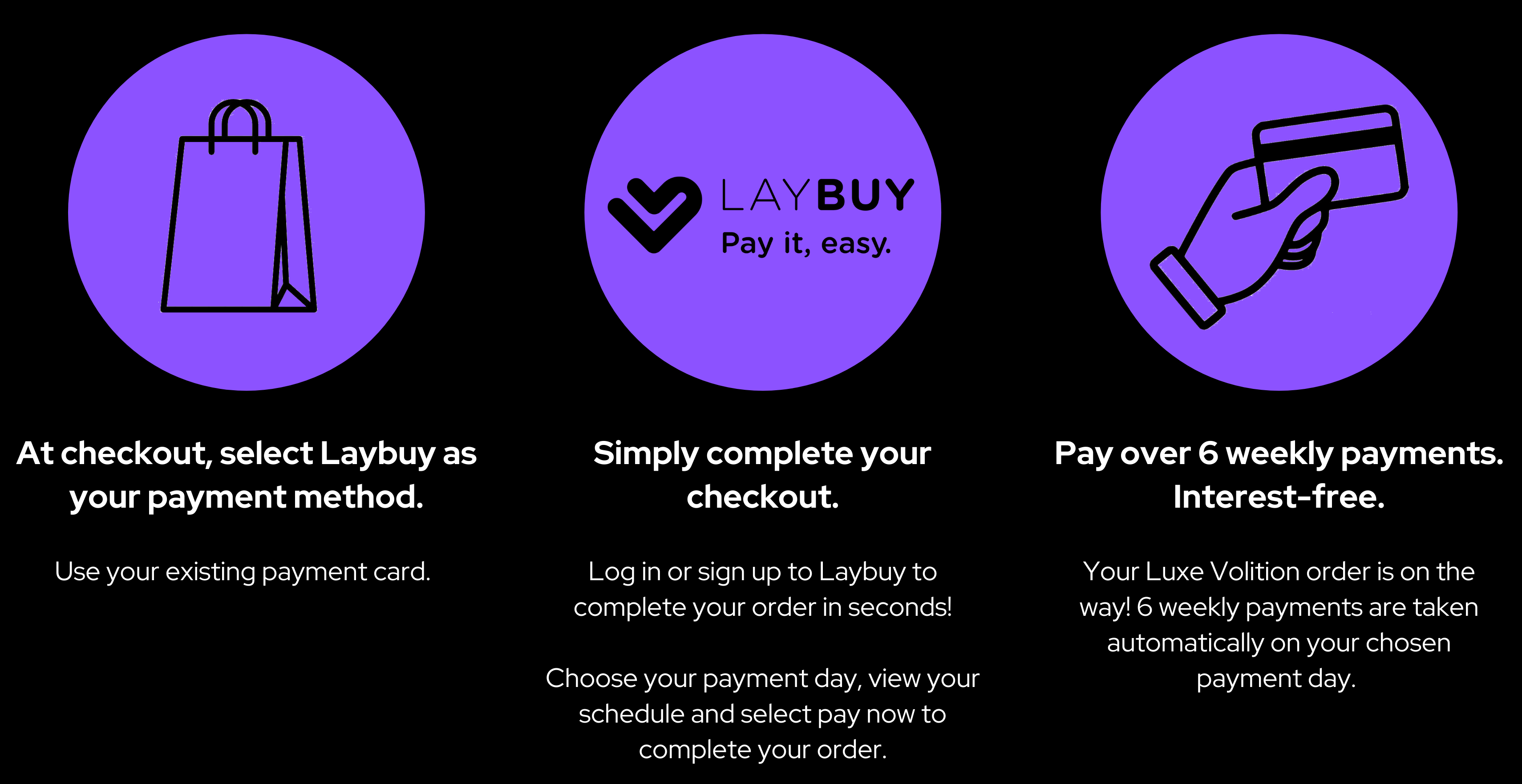 How to use Laybuy on Luxe Volition