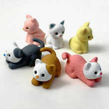 Load image into Gallery viewer, 380022 Iwako CAT ERASER Assorted-6 ERASERS