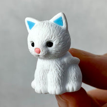 Load image into Gallery viewer, 380024 Iwako CAT ERASER-WHITE-1 ERASER