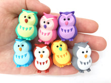Load image into Gallery viewer, 380063 IWAKO OWL ERASERS-BLUE-1 eraser