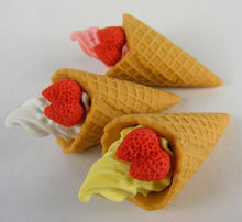 Load image into Gallery viewer, 380125 IWAKO ICE CREAM WAFFLE ERASER-WHITE-1 ERASER