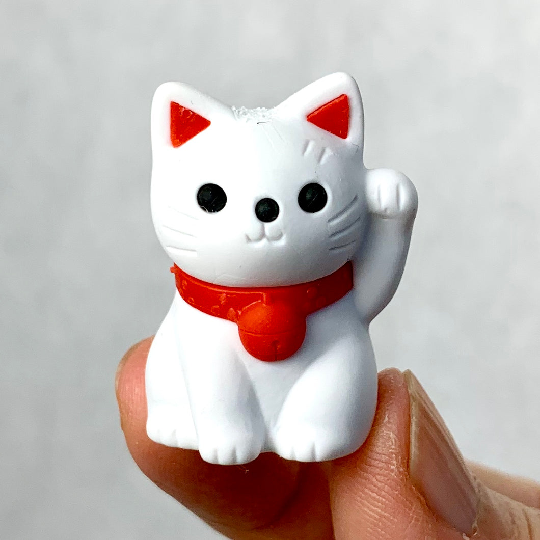 380146 MANEKI WELCOME CAT ERASER-WHITE-1 ERASER