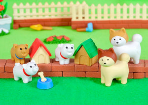 380286 IWAKO AKITA & DOG HOUSE ERASER-GREEN HOUSE-1 ERASER
