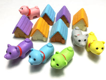 Load image into Gallery viewer, 380295 IWAKO DOG HOUSE ERASERS-BLUE DOG-1 packs of 2 erasers