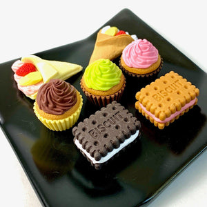 381672 IWAKO CAKE AND BISCUIT MIX ERASER-7 erasers