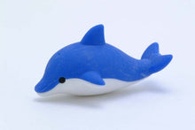 Load image into Gallery viewer, 381803 IWAKO DOLPHIN ERASER-BLUE-1 eraser