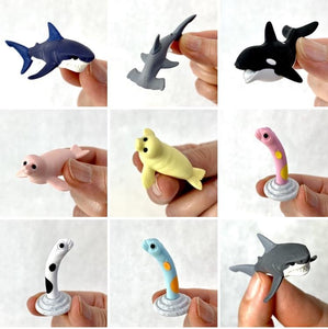 381822 IWAKO SEA ANIMALS 2 ERASERS-9 erasers