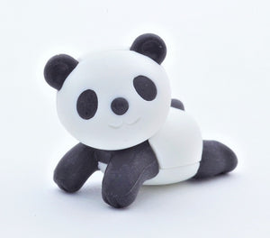 382177 IWAKO RELAX PANDA ERASER BLACK AND WHITE-1 eraser