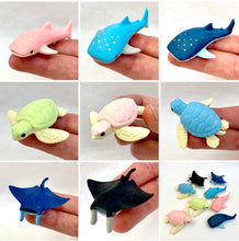 Load image into Gallery viewer, 382534 IWAKO WHALE SHARK ERASER-TROPICAL BLUE-1 eraser