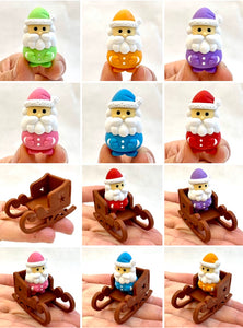 382644 IWAKO SANTA CLAUS ERASER-ORANGE-1 eraser