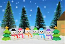 Load image into Gallery viewer, 382652 IWAKO SNOWMAN ERASERS-7 erasers