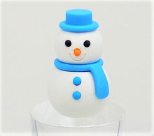 Load image into Gallery viewer, 382657 IWAKO SNOWMAN ERASER-BLUE-1 ERASER
