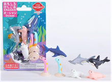 Load image into Gallery viewer, 382941 IWAKO OCEAN ANIMALS ERASERS CARD-1 Card