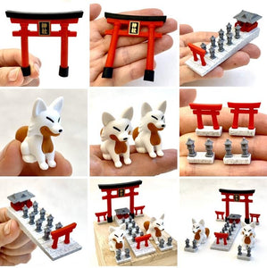 382951 IWAKO FOX SHRINE ERASERS CARD-1 Card