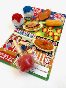 383081 IWAKO SNACK SHOP ERASER CARDS-1 CARD