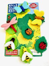 Load image into Gallery viewer, 383201 IWAKO INSECTS ERASER CARD-1 CARD