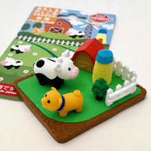 Load image into Gallery viewer, 383221 IWAKO FARM ANIMALS ERASER CARD-1 CARD