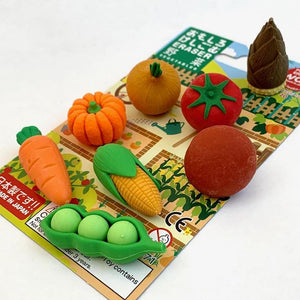 383261 IWAKO VEGETABLE ERASER CARD-1 CARD