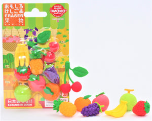 383271 IWAKO FRUITS ERASER CARD-1 CARD