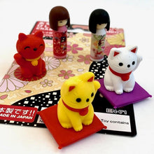 Load image into Gallery viewer, 383461 IWAKO DOLL AND CAT ERASER CARD-1 CARD