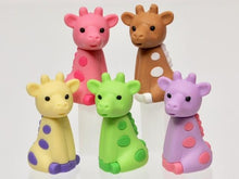 Load image into Gallery viewer, 384511 IWAKO Colorz Giraffe -12 sets of 5 Erasers