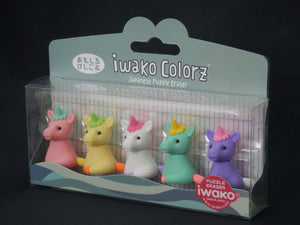 384521 IWAKO Colorz Unicorns -1 box of 5 Erasers