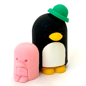 382052 PENGUIN FAMILY ERASERS-4 packs of 8 erasers