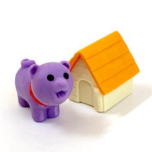 Load image into Gallery viewer, 380293 IWAKO DOG HOUSE ERASERS-PURPLE DOG-1 packs of 2 erasers