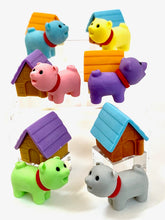 Load image into Gallery viewer, 380298 IWAKO DOG HOUSE ERASERS-PINK DOG-1 packs of 2 erasers