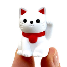 Load image into Gallery viewer, 380146 MANEKI WELCOME CAT ERASER-WHITE-1 ERASER