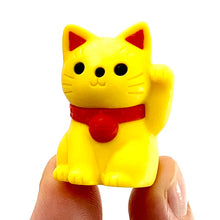 Load image into Gallery viewer, 380147 MANEKI WELCOME CAT ERASER-YELLOW-1 ERASER