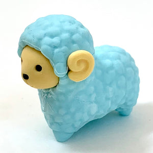 380223 IWAKO SHEEP ERASER-BLUE-1 ERASER