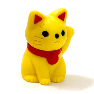380147 MANEKI WELCOME CAT ERASER-YELLOW-1 ERASER