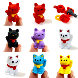 380143 MANEKI WELCOME CAT ERASER-BLACK-1 ERASER