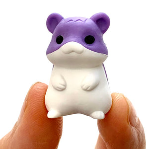 384301 IWAKO 4-HAMSTERS ERASER IN A BOX-1 box