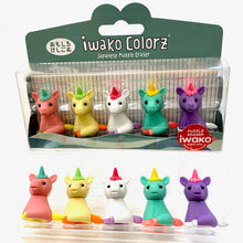 Load image into Gallery viewer, 384521 IWAKO Colorz Unicorns -1 box of 5 Erasers