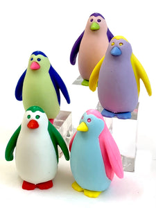384591 Iwako Colorz Penguin -1 box of 5 Erasers