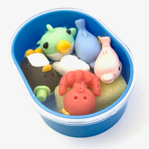 38408 DREAM SEALIFE ERASER BOX SET-1 box of 5 erasers