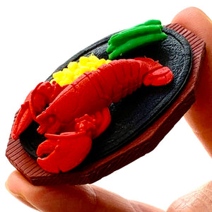 383643 IWAKO LOBSTER DINNER ERASER SET - 3 ERASERS IN 1 BAG