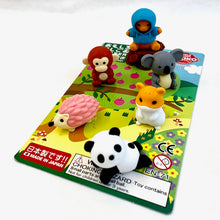 Load image into Gallery viewer, 383491 IWAKO KAWAII ANIMAL ERASER CARD-1 CARD
