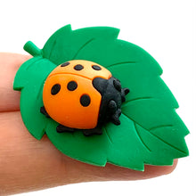 Load image into Gallery viewer, 382193 iwako LADYBUG ERASER-2 COLORS-2 erasers