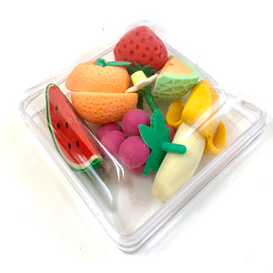 38411 FRUIT ERASER BOX SET-1 box of 6-7 erasers