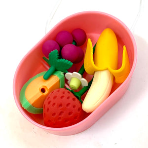 38409 FRUIT ERASER BOX SET-1 box of 4 erasers