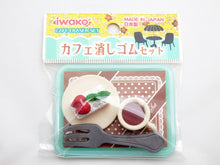 Load image into Gallery viewer, 383631 IWAKO COFFEE SHOP ERASER TRIPLE PACK-1 bag of 3 erasers
