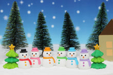 Load image into Gallery viewer, 382655 IWAKO SNOWMAN ERASER-PINK-1 ERASER