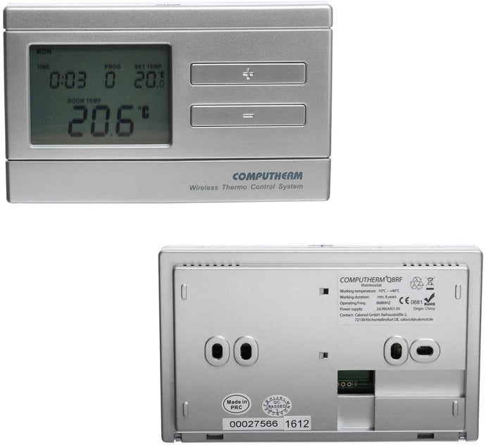 Q8RF (TX) - wireless radio frequency programmable digital room thermostat