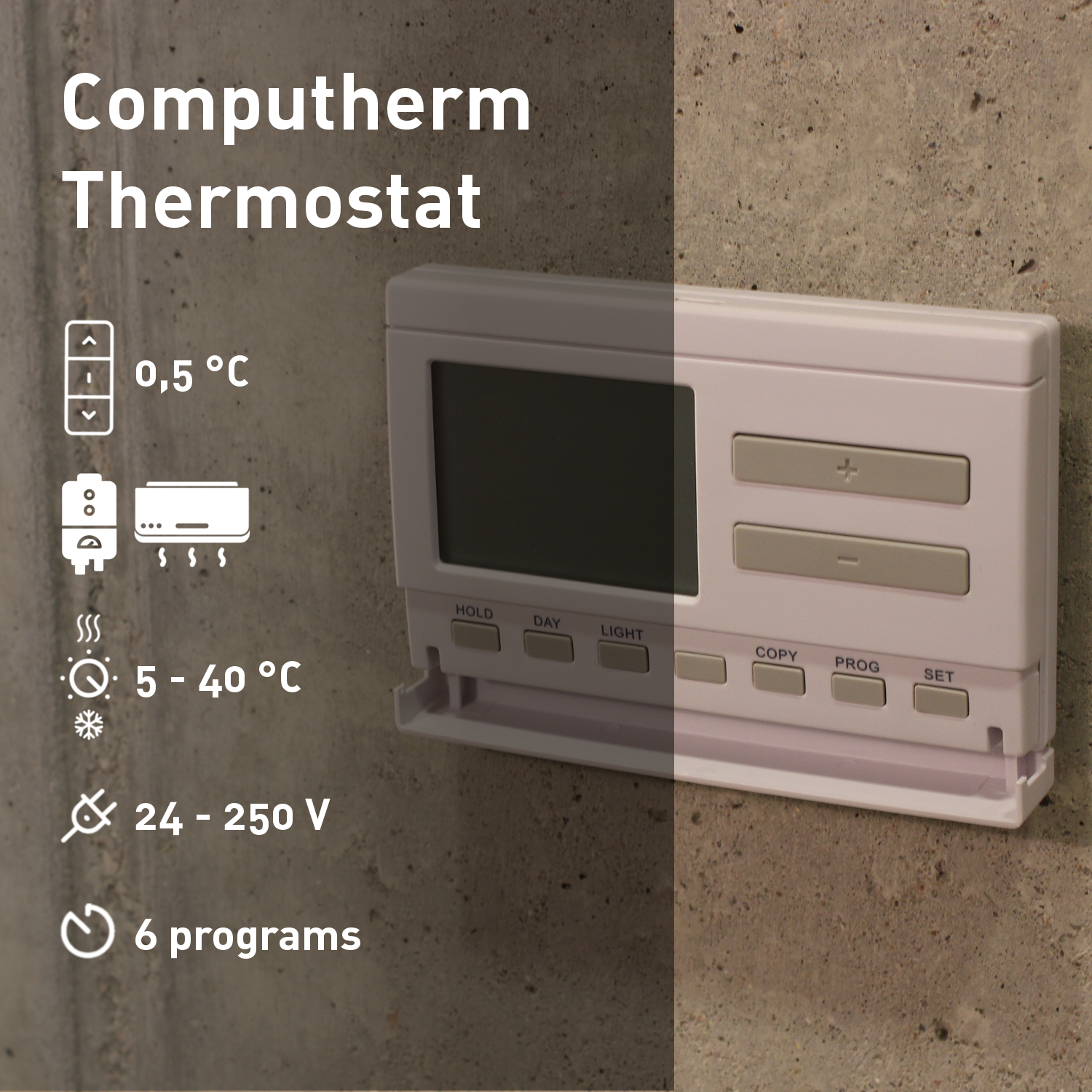 COMPUTHERM Q7 - programmable digital room thermostat