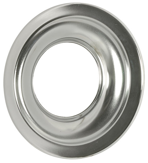 K&N Metal Base Plate 11in OD 5-1/8in Flange 1-1/8in H Chrome Finish
