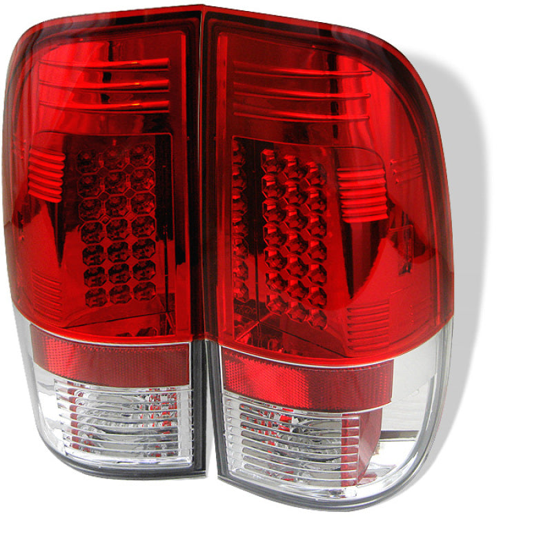 Spyder Ford F150 side 97-03/F250/350 Duty 99-07 LED Tail Lights Red Clear ALT-YD-FF15097-LED-RC